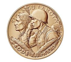 Rosebud Sioux Tribe Code Talkers Bronze Medal 1.5 Inch