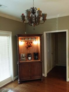 My coffee bar from entertainment center   to make   Pinterest ...