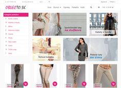 Tvorba e-shopu OblecTo.sk Shopping