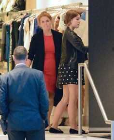 Sarah, Duchess of York and daughter, Princess Eugenie of York shop in NYC's Soho district. Eugenie is moving to NY for a job 10/2/2012