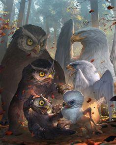 Griffins vs Owlbears
