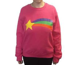 Mabel Pines Sweatshirt Gravity Falls Costume Pink Cosplay Rainbow TV Cartoon New