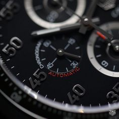 The TAG Heuer Carrera Calibre 1887 Ceramic Bezel Chronographboasts a brilliant black starburst dial with red and white highlighting details that make this piece all the more exceptional #automaticwatch #reloj #menstyle #DontCrackUnderPressure