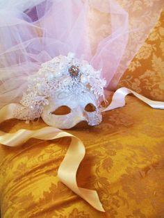 Bridal Mask veil by avictorianflower on Etsy, $129.99
