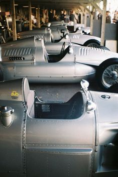 Auto Union Silver Arrows @ 2012 Goodwood Revival. Pic via: http://theycallmeaj.tumblr.com / #Silberpfeile #MB #SilverArrows