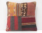 patchwork pillow ethnic pillow cover sofa throw pillow colorful cushion floor pillow cover sofa pillow cover pastel kilim pillow sham 16760