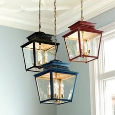 Piedmont 4 Lt Lantern | Ballard Designs Use 2 for the kitchen island and if they are too big, use the 3 candle size