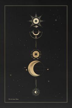 Line Art - Cocorrina La Lune Totem Constellations, Geometric Tatto, Tattoo Mond, Tattoo Mutter, Grafik Design, Stars And Moon, Sacred Geometry, Wicca, Tattoo Inspiration