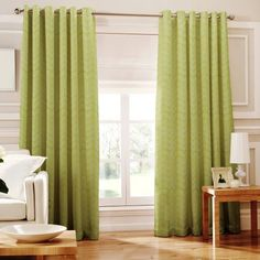 Loretta Lined Eyelet Curtains Lime 66x72 by Ideal Textiles, http://www.amazon.co.uk/dp/B007RZ622Q/ref=cm_sw_r_pi_dp_UVAtrb1PB52BY