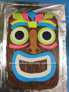 Homemade Luau Party Cake: My work was having a Luau party and I was asked to bring a cake. I came onto this website to check out some homemade Luau party cake ideas and decided