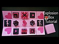 Diy Crafts How To Make An Exploding Box Card Explosion Paper
