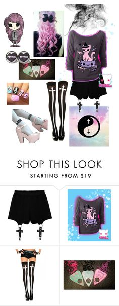 """Pastel Goth"" by perpendicularpurple ❤ liked on Polyvore featuring Chicnova Fashion"