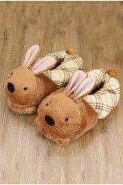 Winter High-top Cartoon Rabbit Cotton  Slippers - Slippers
