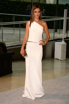 : Alessandra Ambrosio, in KaufmanFranco, at the 2013 CFDA Awards.