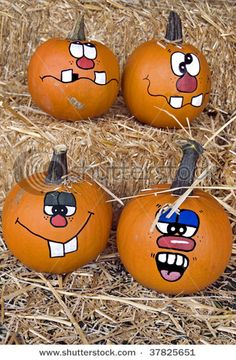 I would much rather paint pumpkins than make a mess carving!