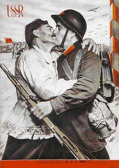 Vraie couverture. Propagande Stalinienne.