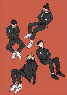 Hinata, Kageyama Tobio, Fanarts Anime, Anime Characters, Manga Anime, Anime Art, Haikyuu Volleyball, Volleyball Anime, Haikyuu Fanart