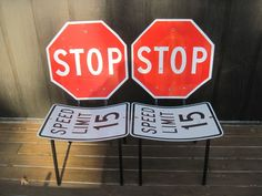 Road Sign Table and Chairs