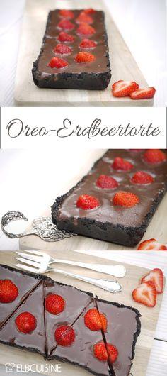 Ganz einfach ohne backen. Eine Oreo-Erdbeer-Schokoladen-Torte. Prima auch als Schokoladen- Dessert ohne Früchte. Schokolade satt! #ELBCUISINE #Rezept #Valentinstag #Torte #Erbeer #Schoko #Oreo #einfach #schnell #lecker Oreo Torte, Sweet Words, Cereal, Pudding, Baking, Breakfast, Desserts, Blog, Dessert Chocolate