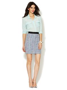 Tweed Pocket Mini Skirt by Alex + Alex at Gilt