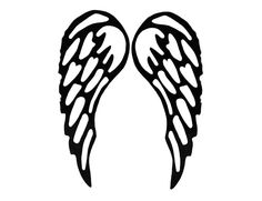 Angel wings SVG // enlarge , use for cutting t-shirts