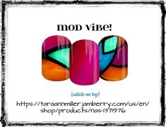 'MOD VIBE!' My newest design is bold & bright! Copy/Paste link in photo to order! #color #fashion #love #notd #jamberryaddict #unique #prettynails #mani #nailart #nailwraps #jamberry #mod #modern #contemporary #fun #nails #nailspiration #mixedmani #love #pink #orange #blue #busymoms #style #gift