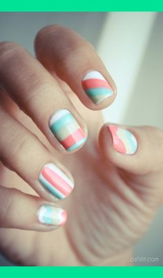 Pastel nails | Gianina F.'s Photo | Beautylish