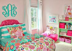 hot pink girls bedroom - Google Search