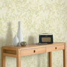Colours Paste The Wall Mayfield Metallic Effect Yellow Wallpaper | Departments | DIY at B&Q