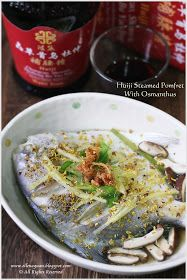 Cuisine Paradise | Singapore Food Blog | Recipes, Reviews And Travel: Huiji Steamed Pomfret With Osmanthus