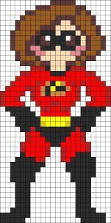 Kandi Patterns for Kandi Cuffs - Characters Pony Bead Patterns Perler Bead Disney, Perler Bead Art, Perler Beads, Pearler Bead Patterns, Perler Patterns, Beaded Cross Stitch, Cross Stitch Embroidery, Hand Embroidery, Modele Pixel Art