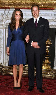 Kate Middleton's Royal Blue Issa Engagement Dress,