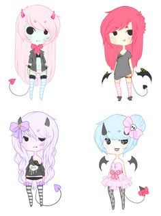 [pastel demon adopts - CLOSED ] by amouu.deviantart.com on @deviantART