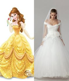 Belle wedding dress. Angel by Mirror Mirror couture #Disney #weddingdress