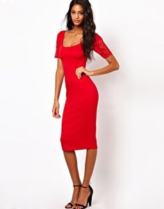 MOM  Enlarge ASOS Body-Conscious Dress With Laser Cut Sleeves