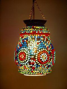 Bohemian Mosaic Lantern