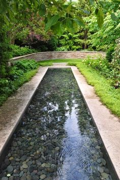 Negative edge concrete trough fountain garden pinterest fountain garden planning and Home channel gardening