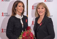 Princess Marie attended the reception of celebration of 30th anniversary of presidency of actor Susse Wold, President of Danish AIDS Foundation at Copenhagen French Embassy on October 9, 2016.
