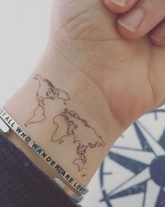 To make it even better get a red dot tattooed to the places you've been - tatoo feminina Dainty Tattoos, Dot Tattoos, Pretty Tattoos, Mini Tattoos, Beautiful Tattoos, Body Art Tattoos, Tatoos, Cool Small Tattoos, Karten Tattoos