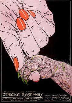 Polish poster for Rosemary's Baby (Roman Polanski, designed by Andrzej Pagowski, Horror Movie Posters, Polish Movie Posters, Polish Films, Horror Movies, Rosemaries Baby, Poster Retro, Incredible Film, Baby Movie, Mia Farrow