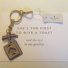 {Kate Spade} Lilac Leather Spade Keychain Charm ✨Kate Spade Lilac Leather with Spade Keychain✨Comes with Dust Bag and Box 🎀 kate spade Accessories