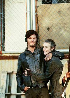 Norman Reedus and Melissa McBride (Daryl and Carol)