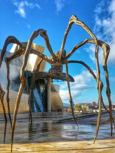 Basque Country, Bizkaia, Bilbao, Guggenheim - Happy to call this place my new home. Public Display, Frank Gehry, Basque Country, Pamplona, Modern Sculpture, Photos Du, Places Ive Been, Garden Design, Architecture