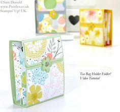 POOTLES Stampin' Up! UK Tea Bag Holder Folder Tutorial