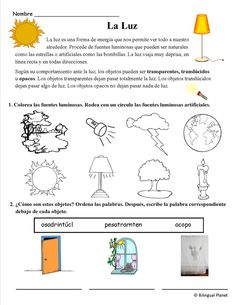 Science/Ciencias of pdf's in spanish and english with Subscription. Speech Language Therapy, Speech And Language, Science For Kids, Science And Nature, Grammar Book, States Of Matter, Force And Motion, Luz Natural, Spanish Classroom