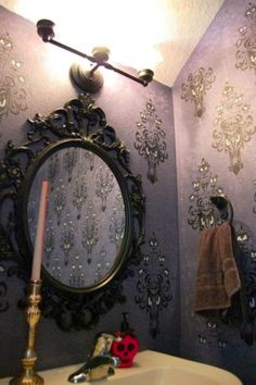 I want this HAUNTED MANSION bathroom  @Madison Moore