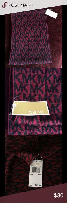 New with tag MK infinity Scarf New with tag, authentic. Color maroon. Michael Kors Accessories Scarves & Wraps