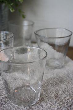 Misshapen glassware is always such a unique touch Cosy Interior, Kitchenware, Tableware, Brown Paper Packages, Larder, Glass Vessel, Kitchen Supplies, Design Crafts, Restaurant Bar