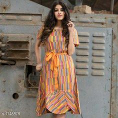 Checkout this latest Dresses Product Name: *Women's Printed Multicolor Cotton Dress* Sizes: XS, S, M, L, XL, XXL Country of Origin: India Easy Returns Available In Case Of Any Issue   Catalog Rating: ★4.1 (3715)  Catalog Name: Mahira Attractive Cotton Printed Dresses Vol 2 CatalogID_229170 C79-SC1025 Code: 095-1748878-4971