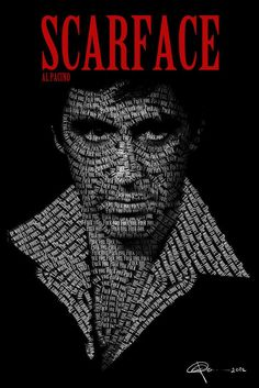 Tony Montana from Scarface Scarface Quotes, Scarface Poster, Scarface Movie, Al Pacino, Michelle Pfeiffer, Carlo Gambino, Wild Pictures, Pablo Escobar, Movie Tees